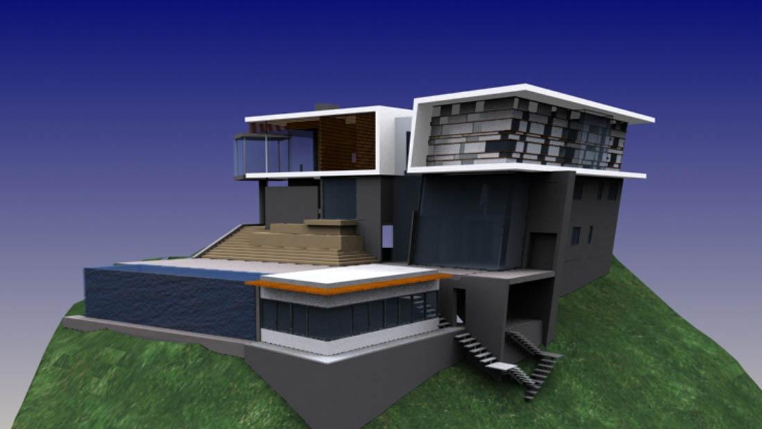 2007 Design, Drawings, 3D Modeling, Rendering, Revit, City Permits,BelAir 01