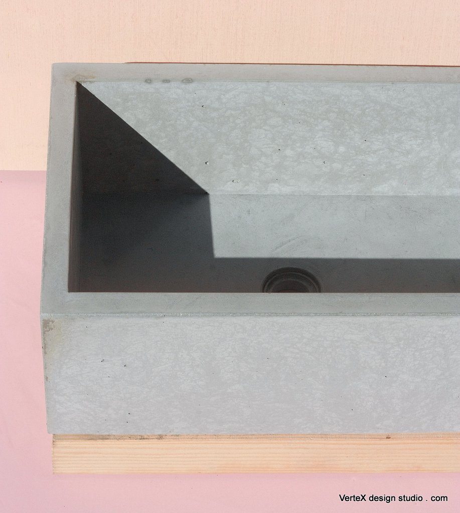 Concrete Sink BOX GRAY