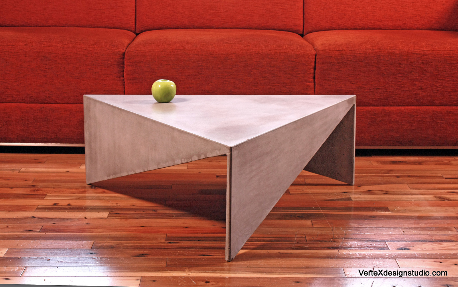 Concrete Triangle Coffee Table