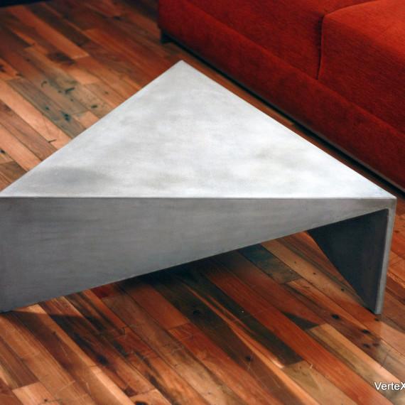 Concrete Triangle Coffee Table