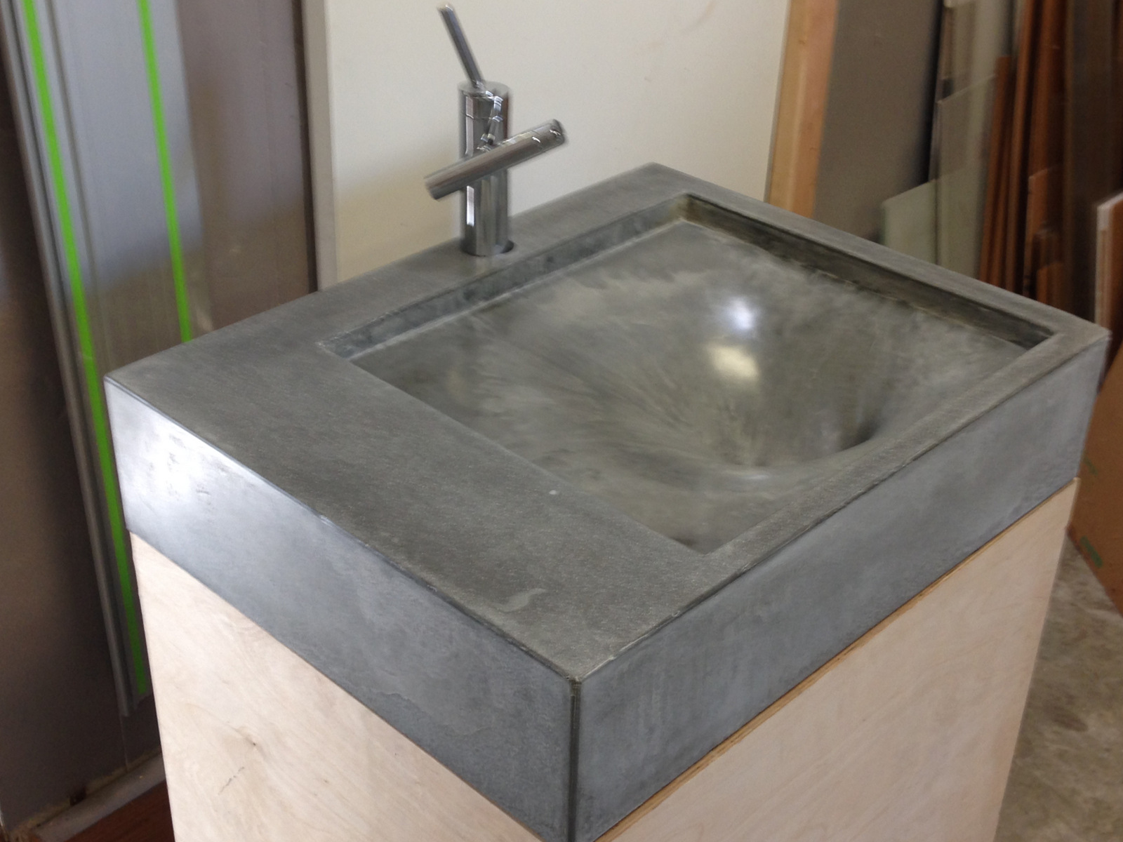 Fabric formed concrete sink